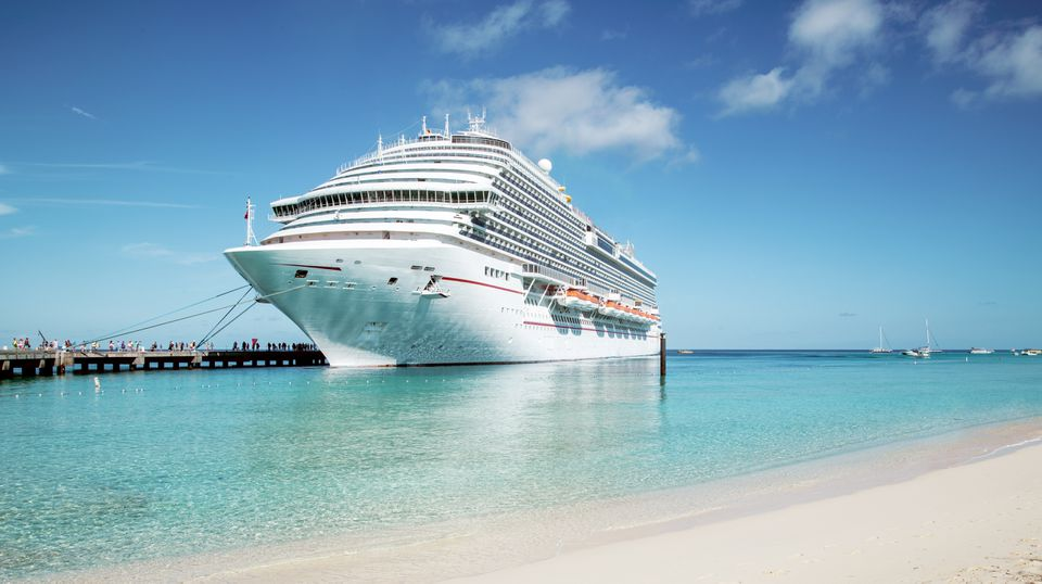 Cruise ship moored at Grand Turk island, in the Caribbean