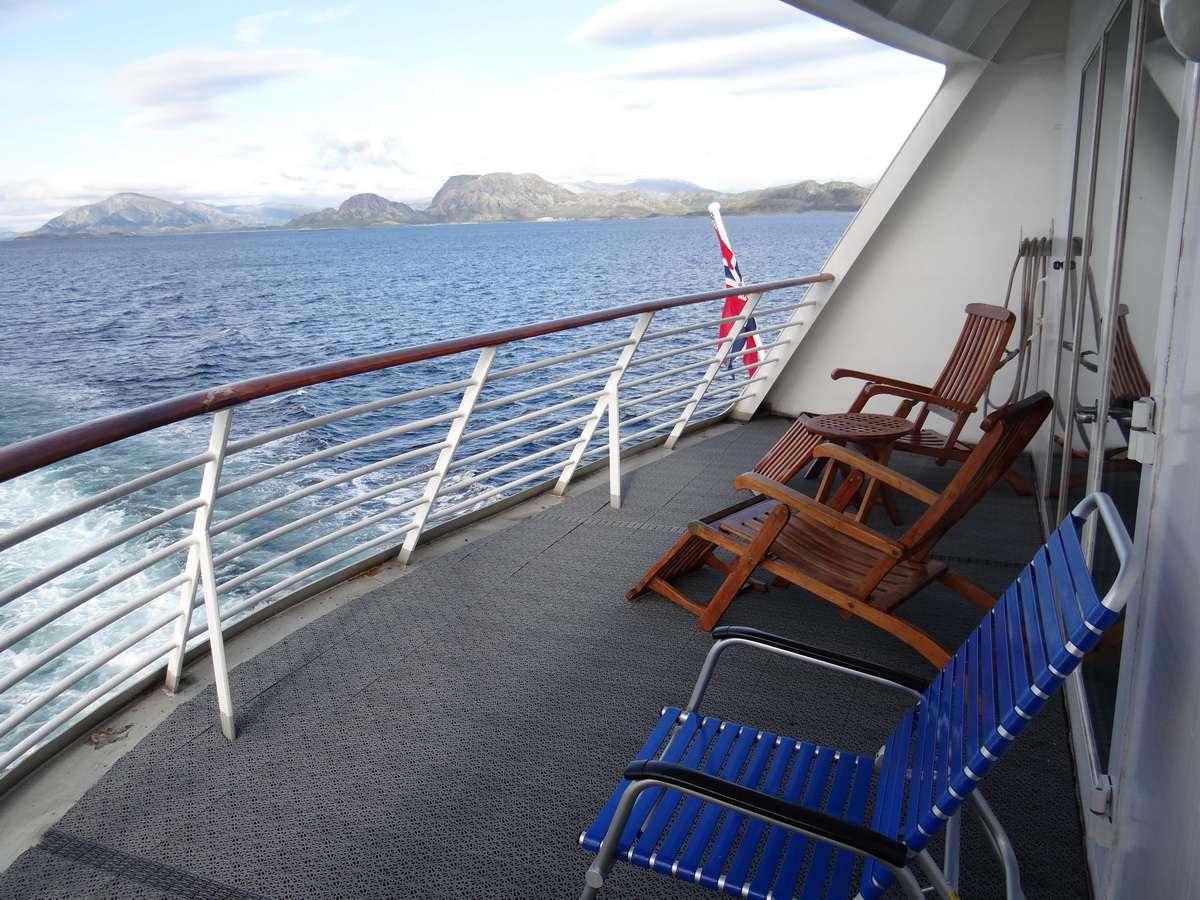 Midnatsol Grand Suite Private Outdoor Balcony - Hurtigruten Coastal Liner Accommodations