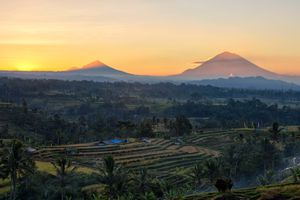 Morning view at Jatiluwih Rice Terrace, Tabanan Bali