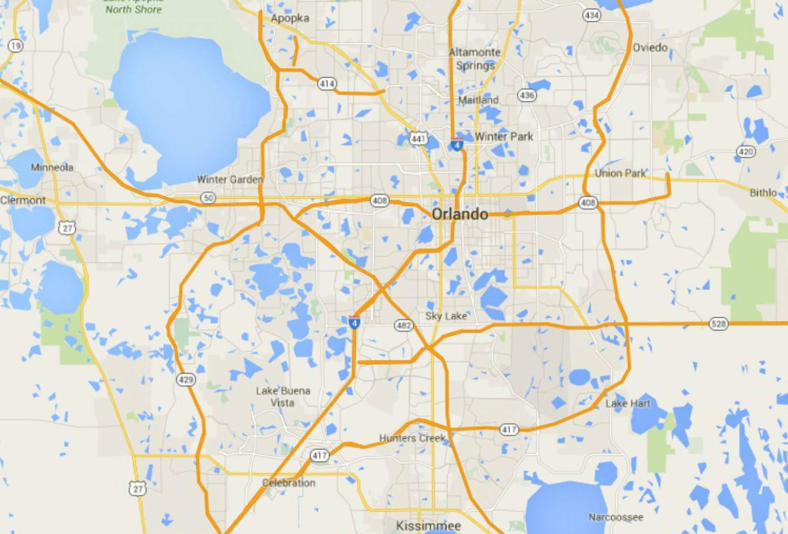 Maps of Florida: Orlando, Tampa, Miami, Keys, and More