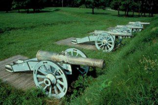Cannons at Yorktown National Battlefield