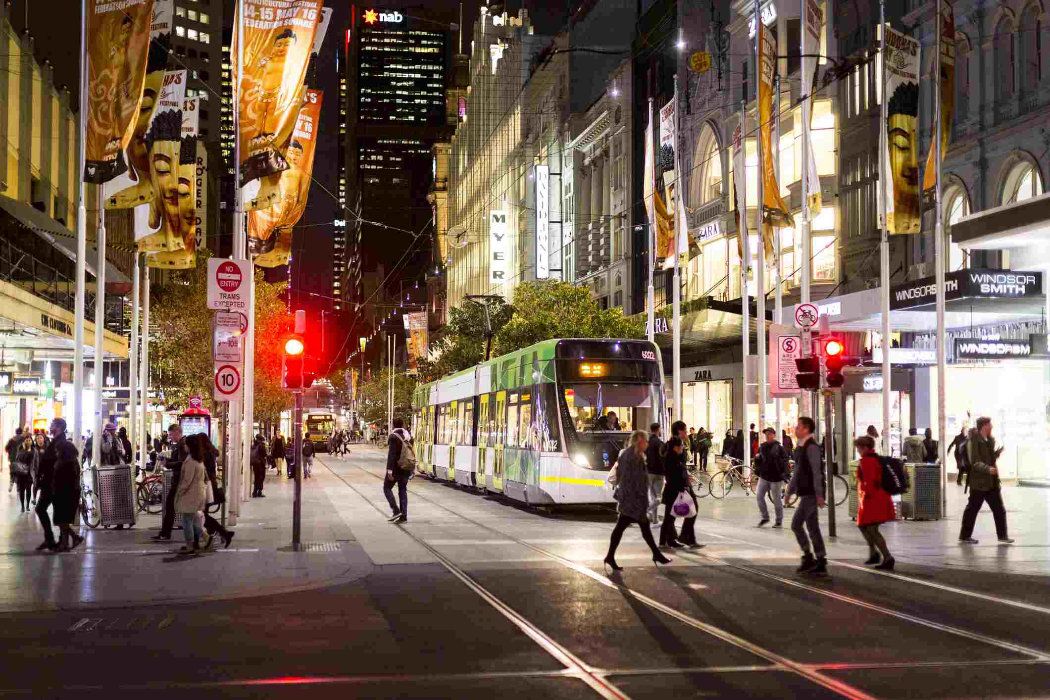 Bourke Street Mall in Melbourne