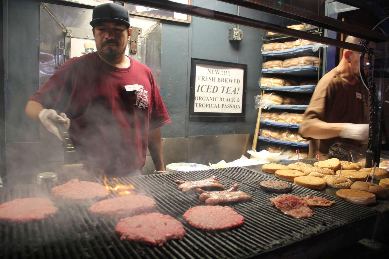 Burgers at The Chuckbox in Tempe, AZ