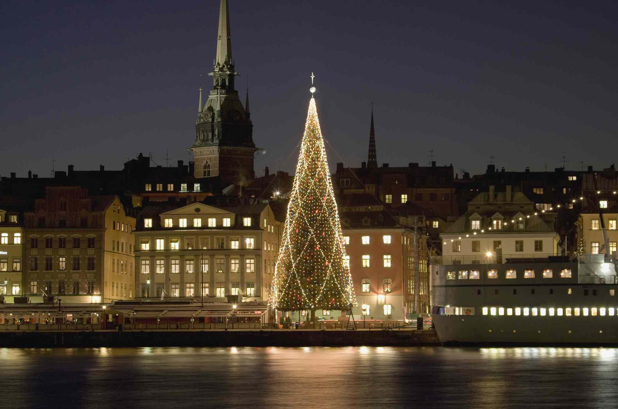 Christmas tree in Stockholm, Sweden