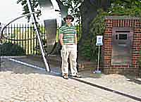 Standing over the Prime Mederian at the Royal Observatory, Greenwich, London