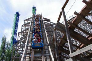 Tremors roller coaster at Silverwood