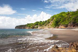 Woodlands beach in the Caribbean