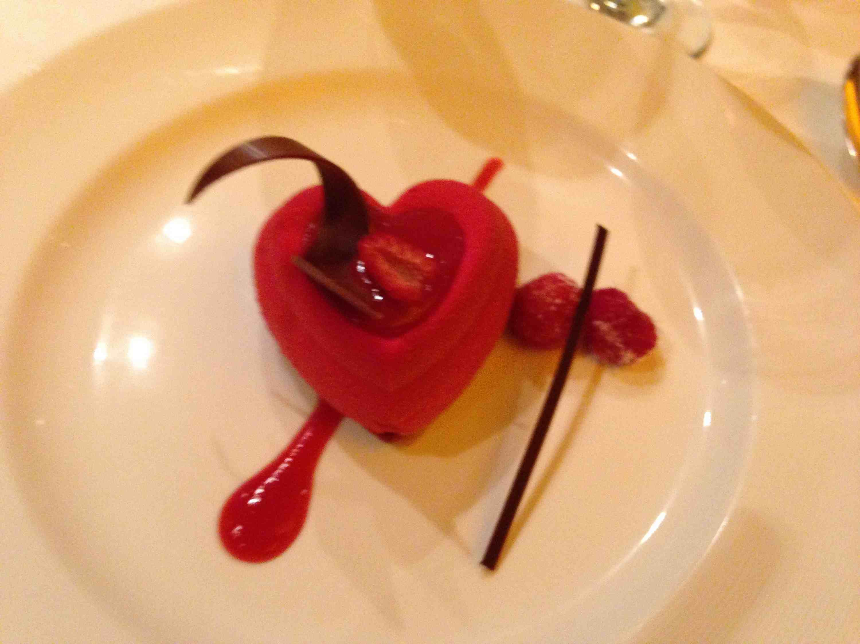 A Regal Princess chocolate and berry dessert