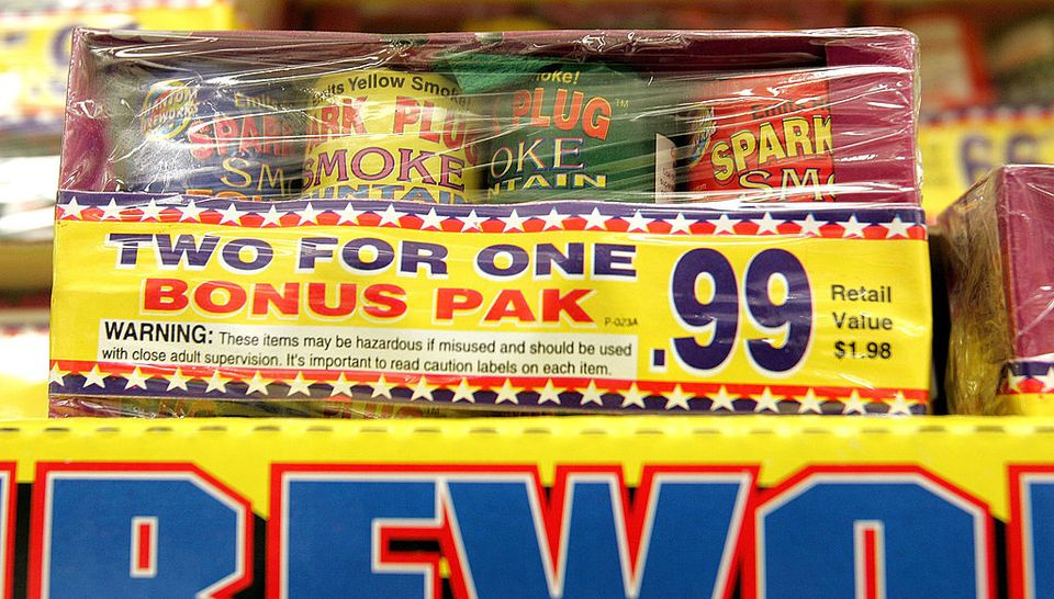 Legal firework paraphernalia is displayed at a Kmart store June 27, 2005 in Chicago, Illinois. Consumers are picking up last minute sales on Fourth of July items as the traditional American holiday quickly approaches.