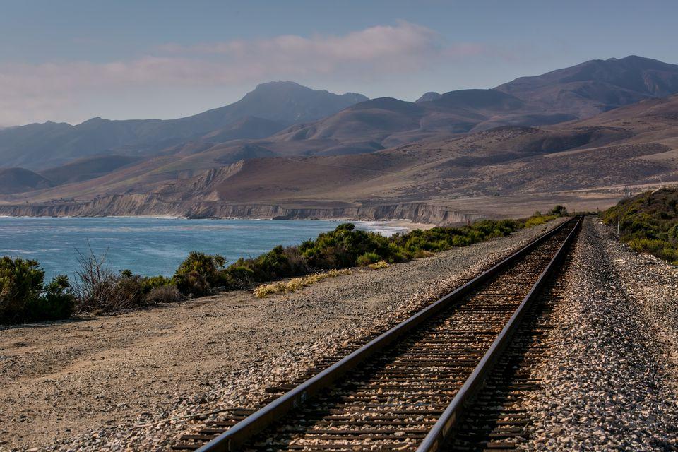 vías del tren en California