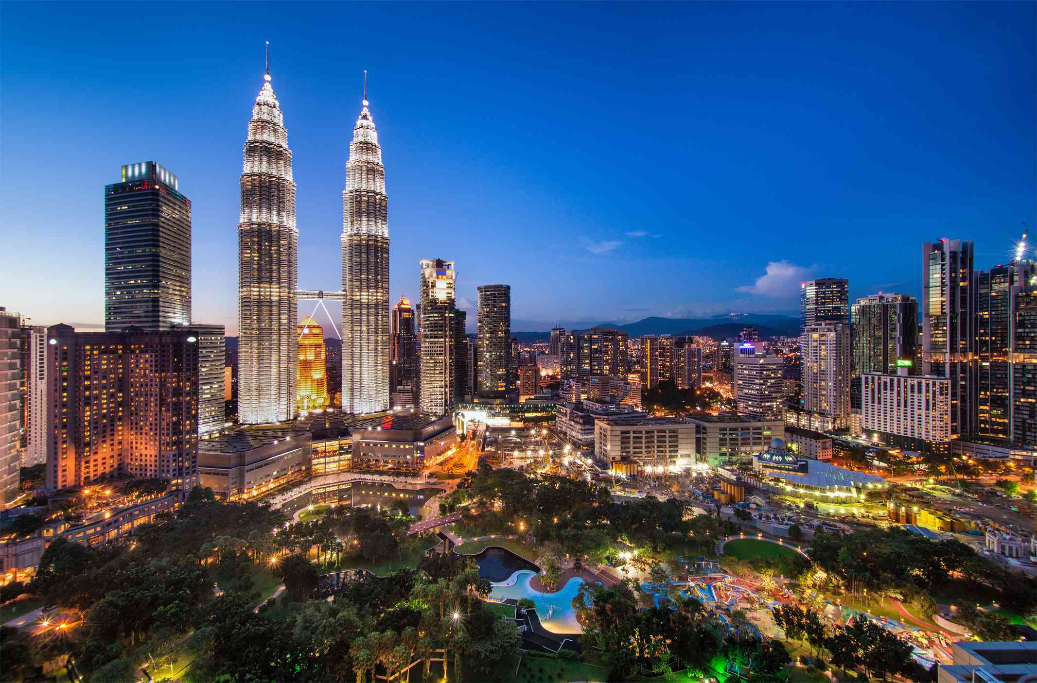 Cityscape of Twin tower or Petronas towers in Kuala Lumpur, Malaysia.