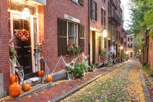 Halloween in Boston's Beacon Hill Neighborhood