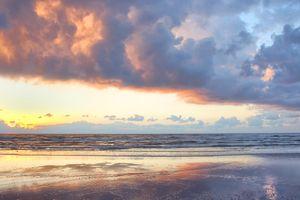 Sunrise over Padre Island, Texas