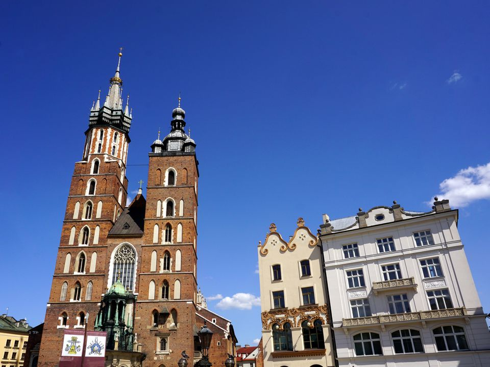 St. Mary`s Basilica in Krakow, Poland