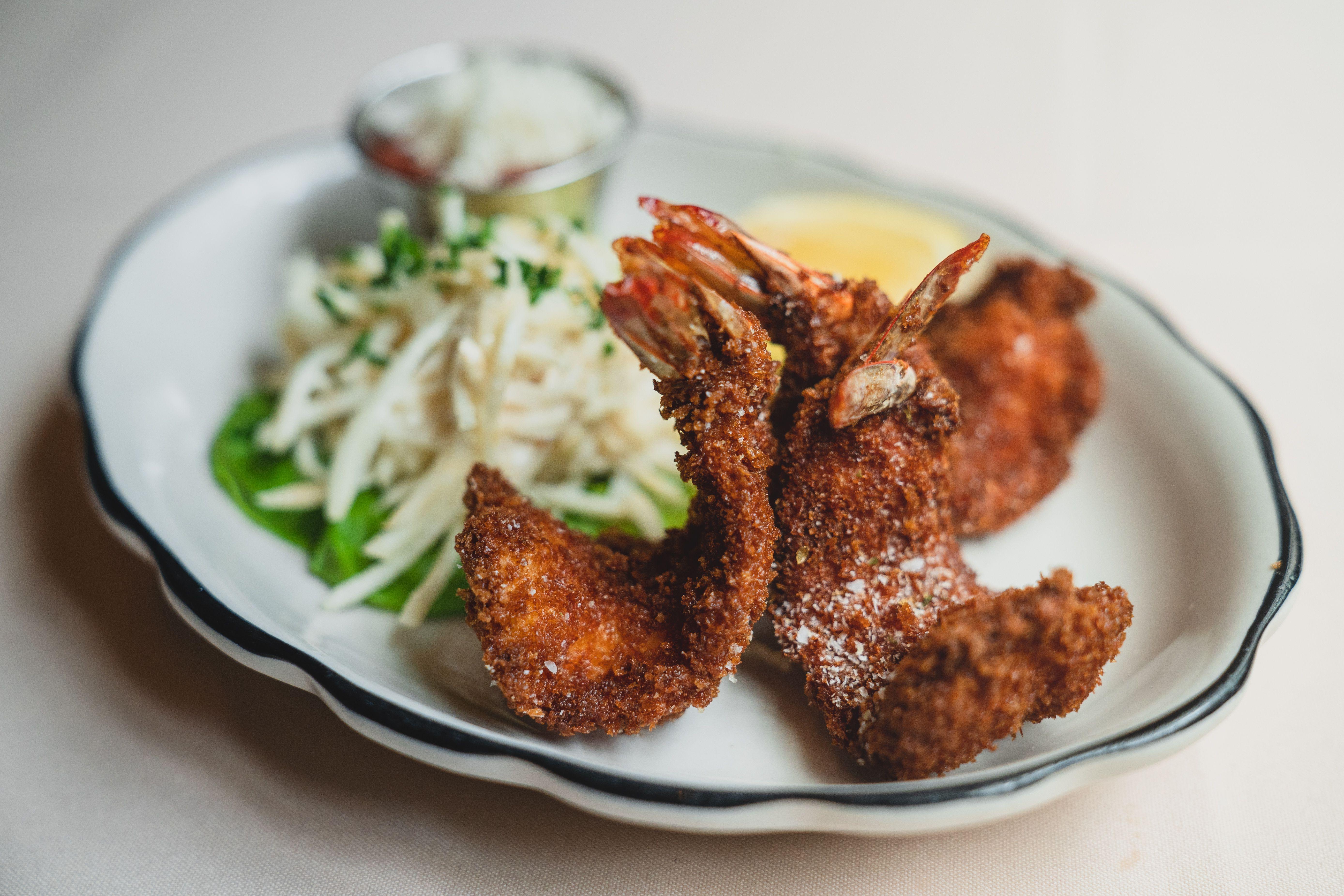 breaded shrimp at Butcher and Singer in Philadelphia