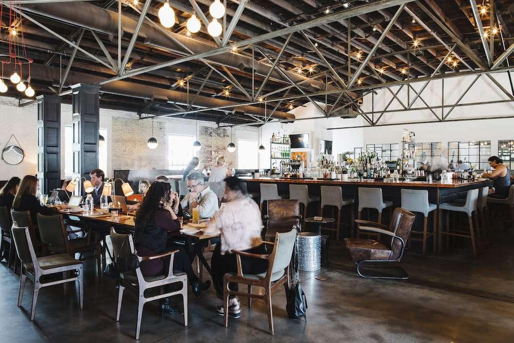 Pinewood Social bar and restaurant interior