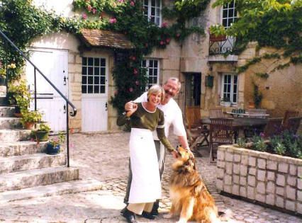 The owners of Le Moulin d'Echoiseau, Loire Valley