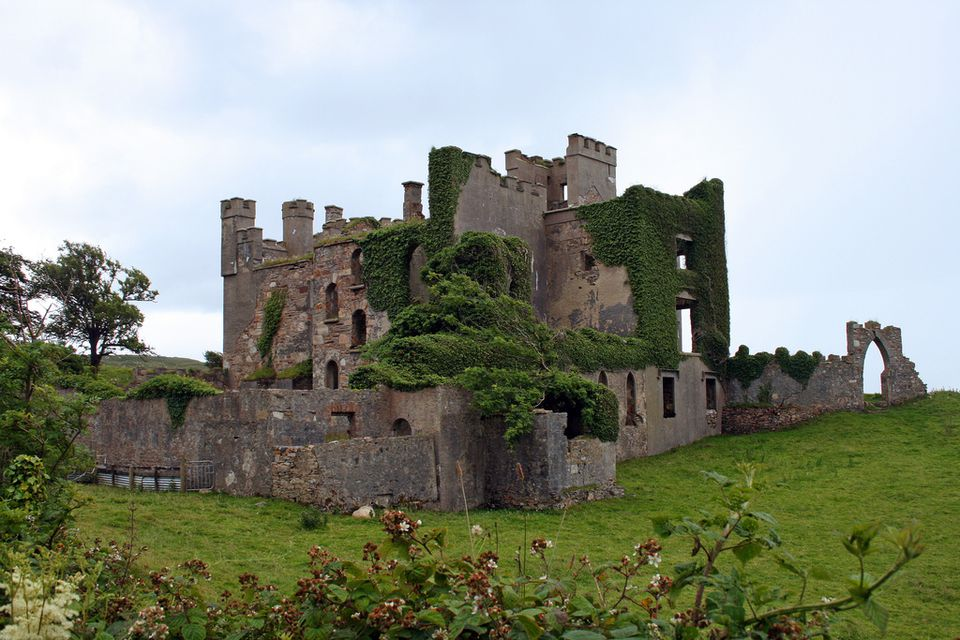 Clifden Castle in Ireland