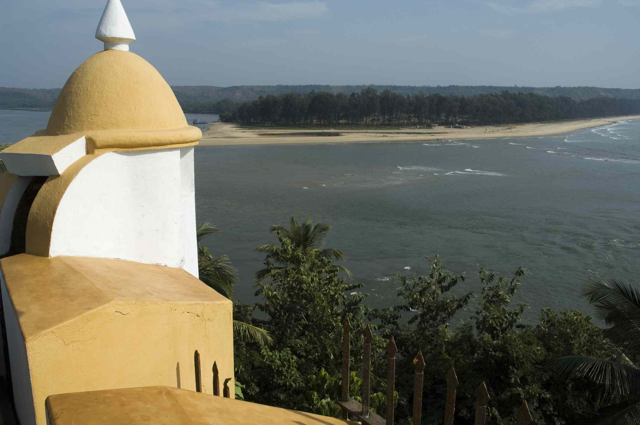 View from Tiracol fort.
