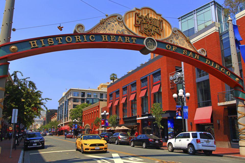 California, San Diego. Historic town centre. Gaslamp Quarter
