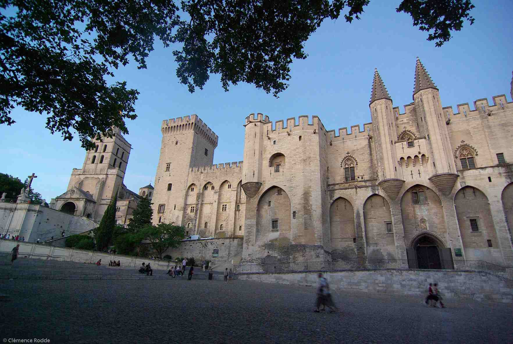 The exterior of the Pope's Palace in Avignon