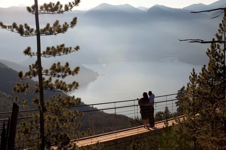 Suspension Bridge with view of Howe Sound.