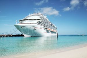 Cruise ship moored at Grand Turk island, the Caribbeans