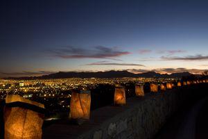 Luminarias Overlooking El Paso and Juarez