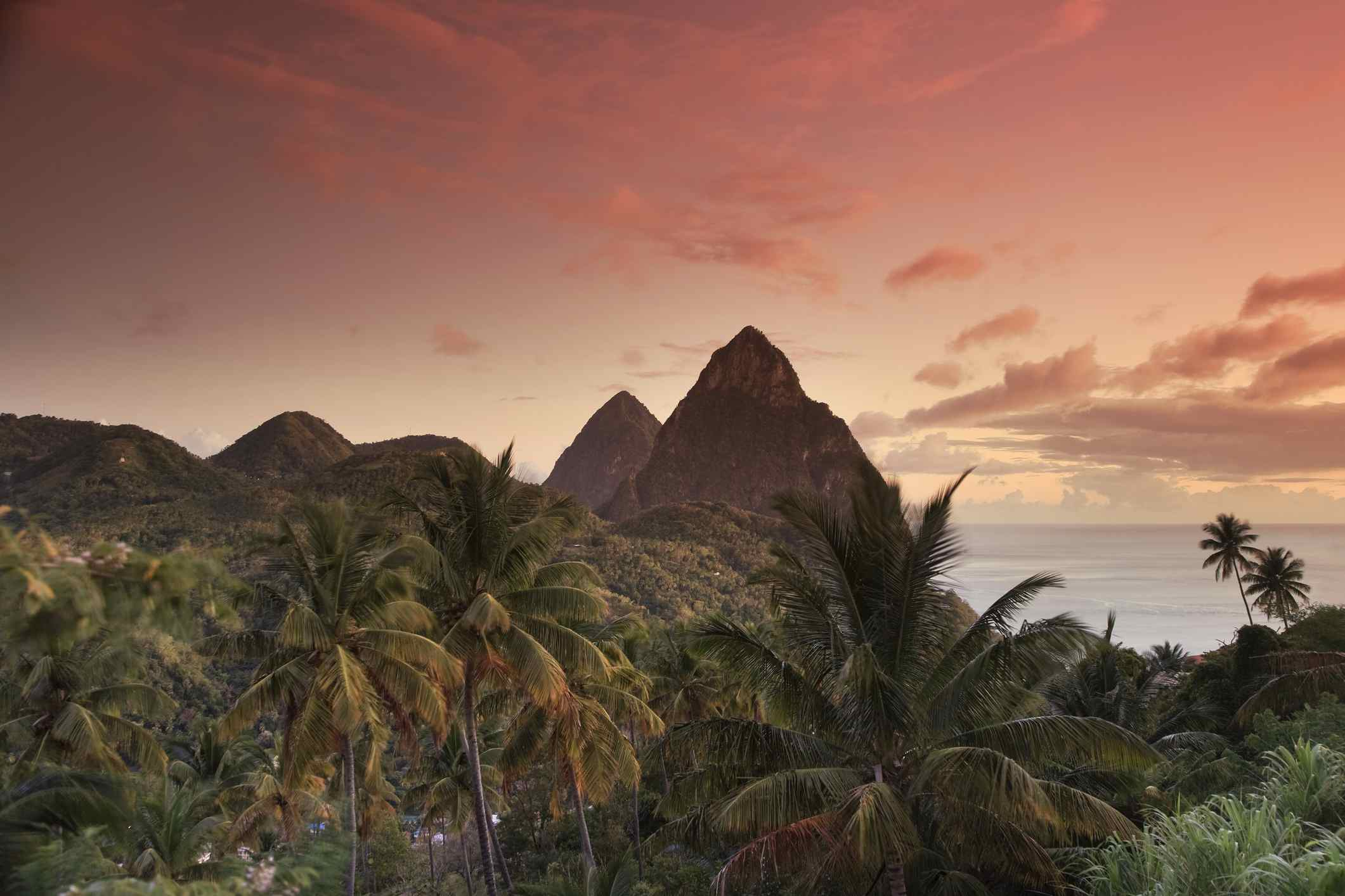St. Lucia, Pitons and Soufriere Bay
