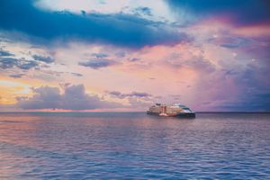 Celebrity Cruise ship at sea