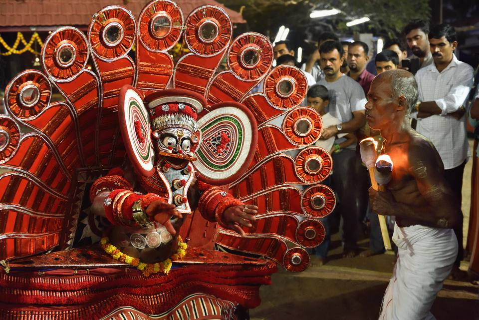 Theyyam in Kerala.