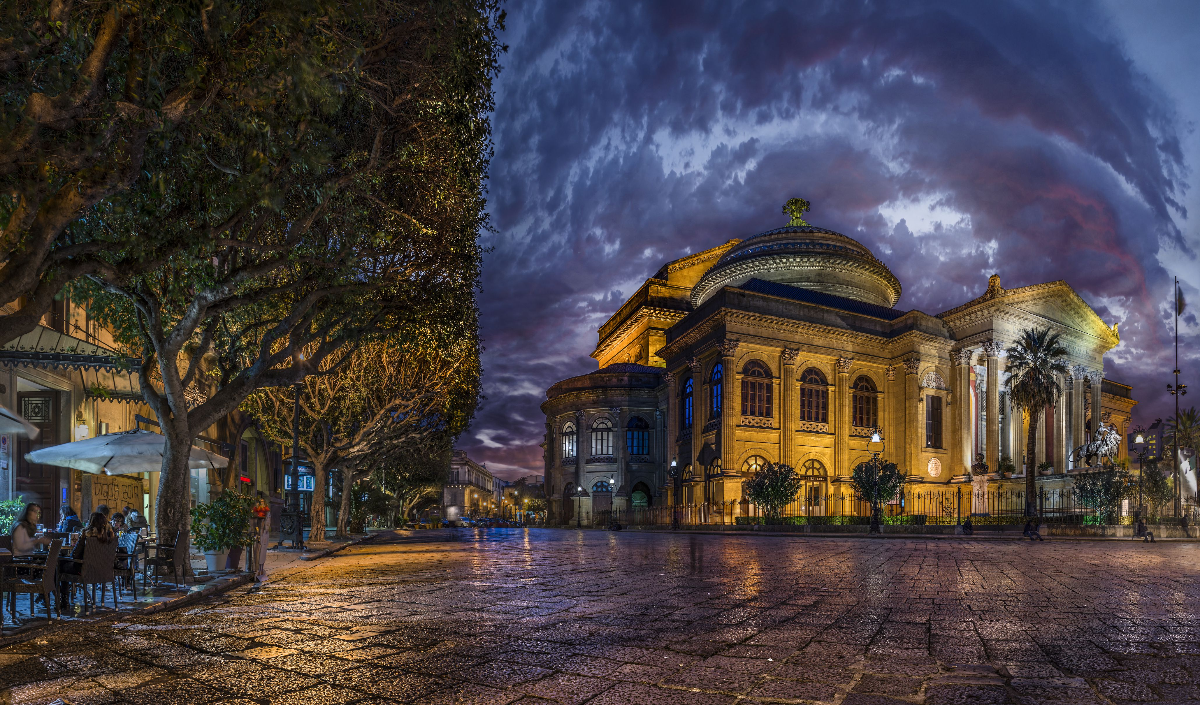 Theater, Teatro Massimo, Palermo, Sicily, Italy