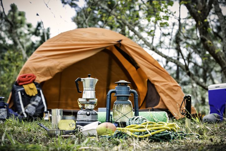 Equipment and accessories for mountain hiking in the wilderness