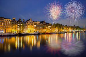 Fireworks in Amsterdam, Netherlands