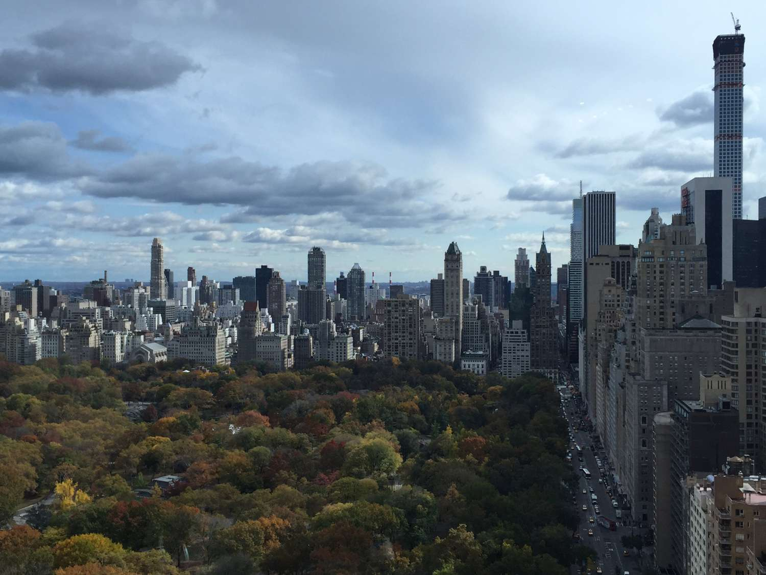 View Of Central Park From The Mandarin Oriental Hotel