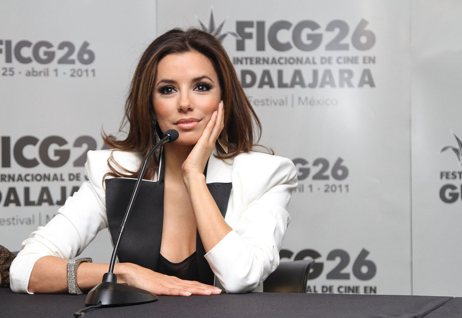 Actress Eva Longoria attends the press conference of the 'The Harvest' at the 26th Edition of the Guadalajara International Film Festival