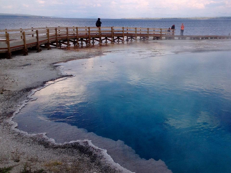 yellowstone, national park, geyser, Yellowstone Lake