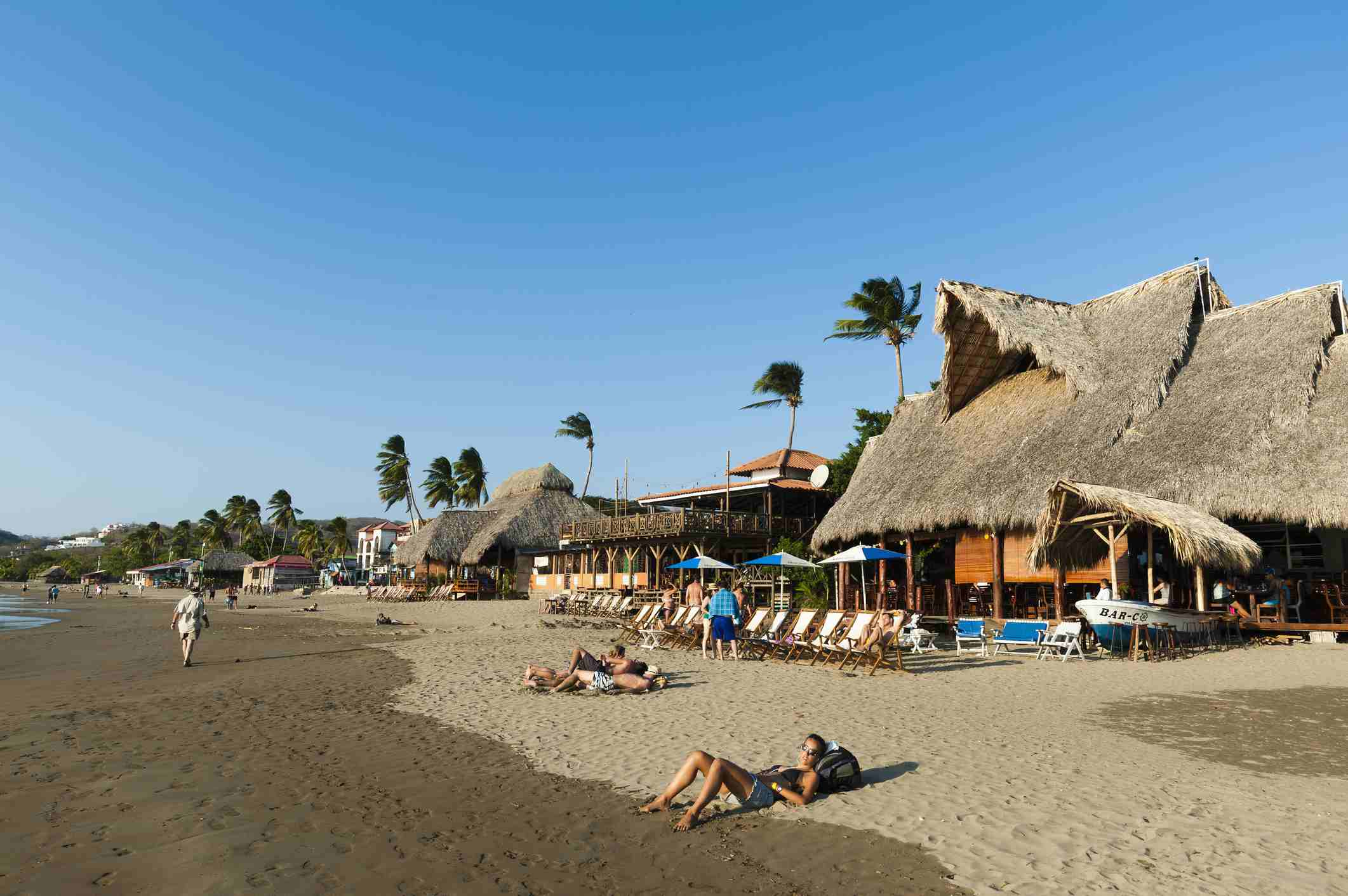 The beach of San Juan del Sur