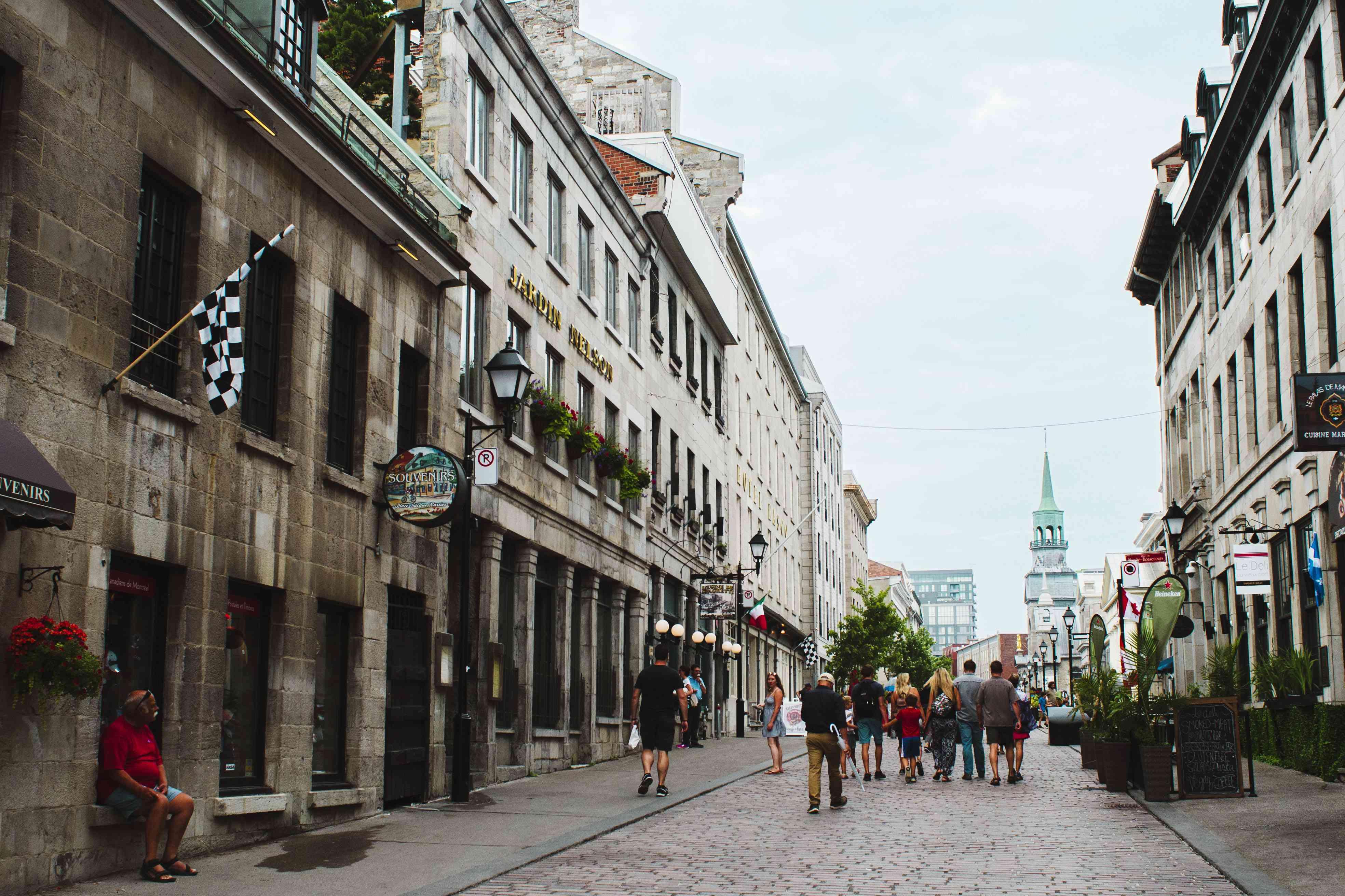 Rue Saint Paul in Montreal