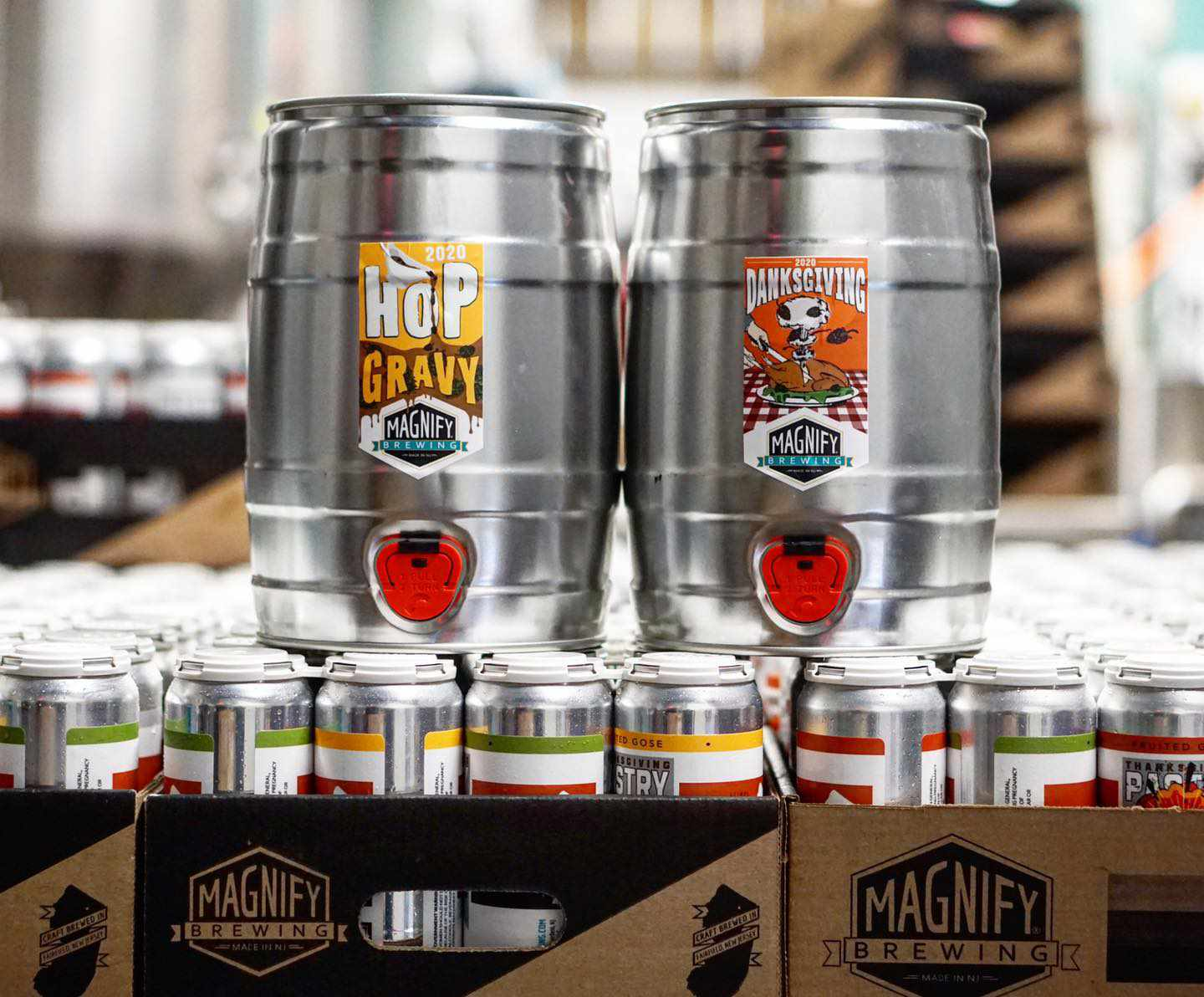 Kegs from Magnify Brewing