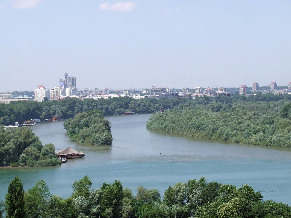 Belgrade - Confluence of the Sava and the Danube Rivers