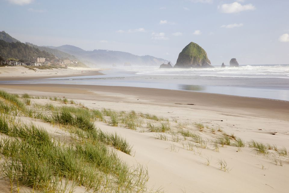 Cannon Beach And Haystack Rock Oregon Coast Usa
