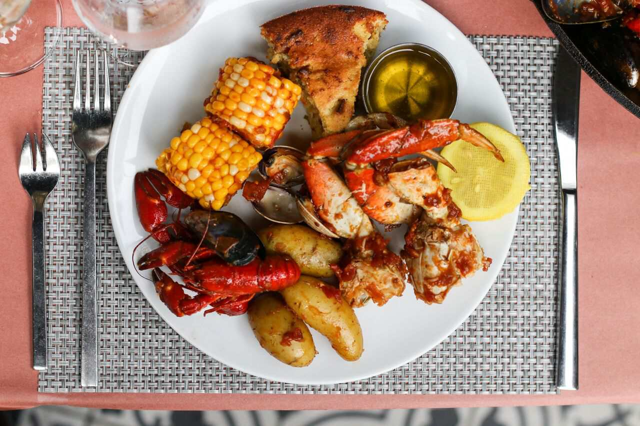 Seafood boil at Boulevard, Vancouver