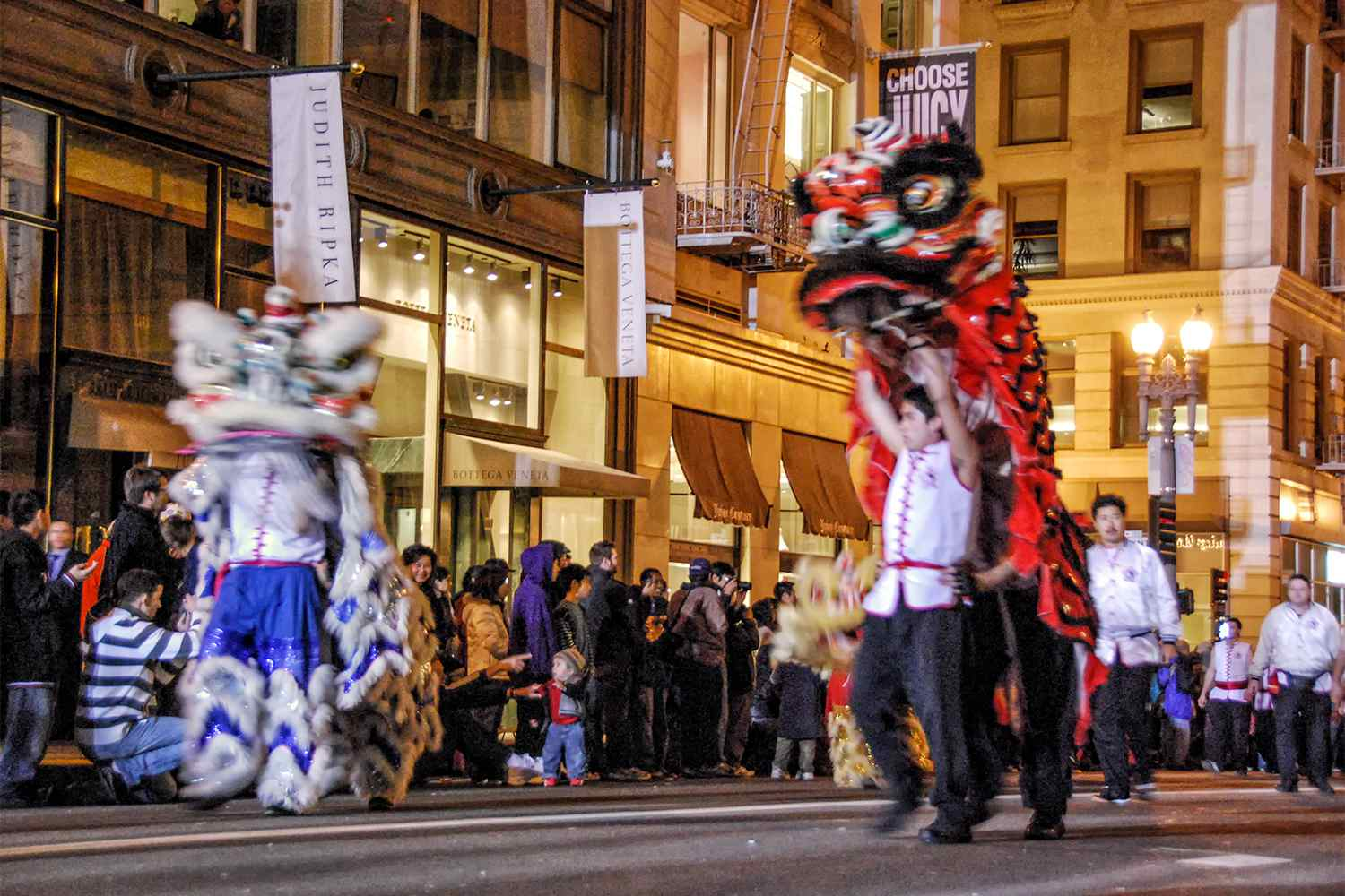Lion Dancers in the San Francisco Chinese New Year Parade