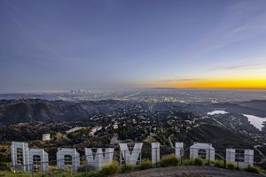 Hollywood Sign with Los Angeles in the background