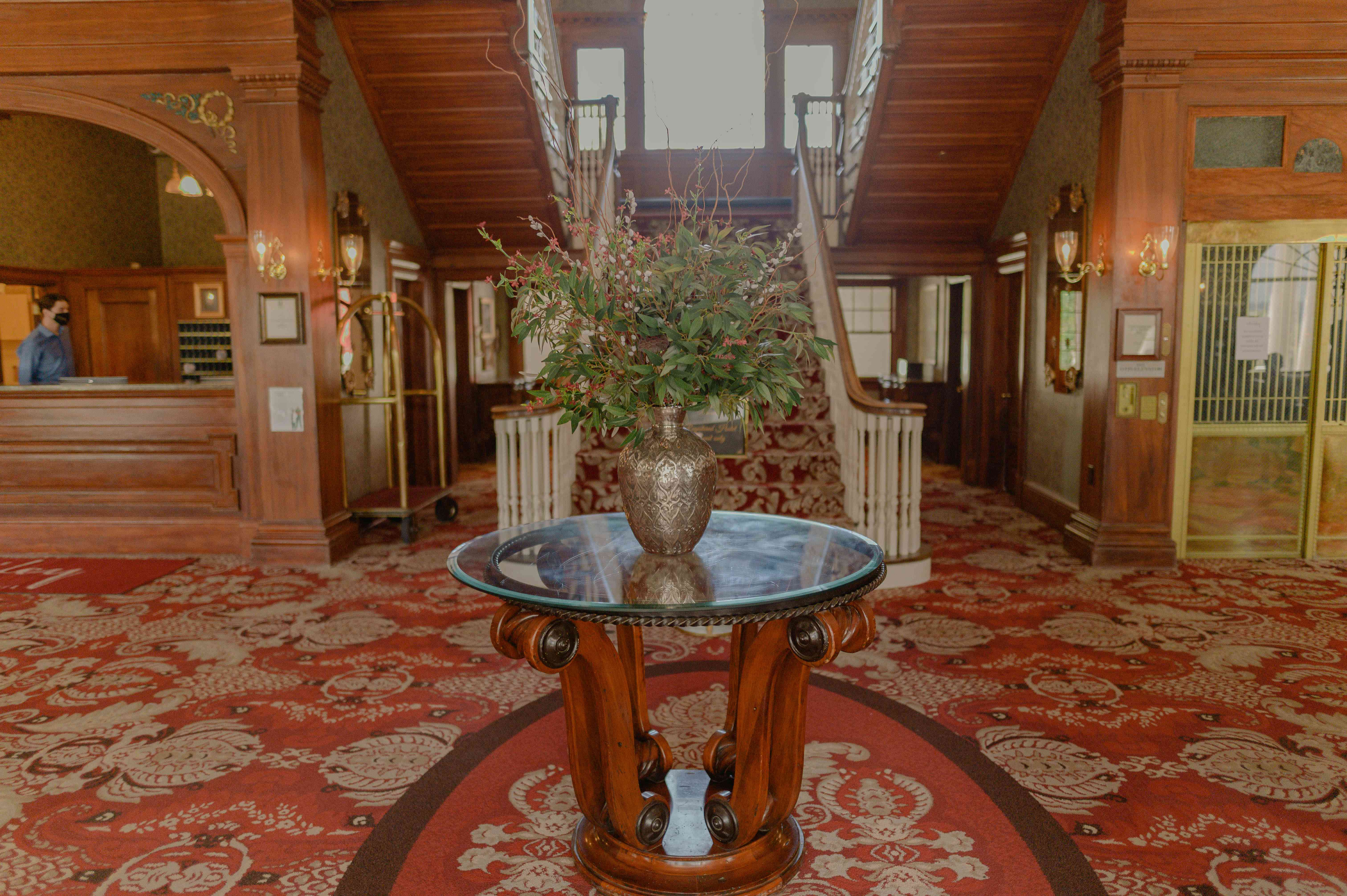 The Grand Staircase at the Stanley Hotel in Colorado