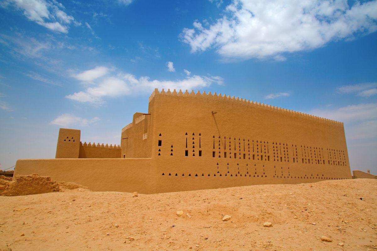 A stone fortress at ad-Dir'iyah