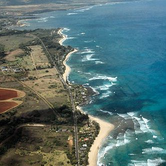 Aerial View of the North Shore of Oahu from Haleiwa to Kawailoa Beach