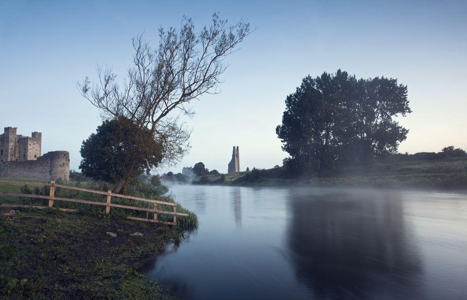 Trim Castle Along Banks Of The River Boyne, Trim, County Meath, Ireland