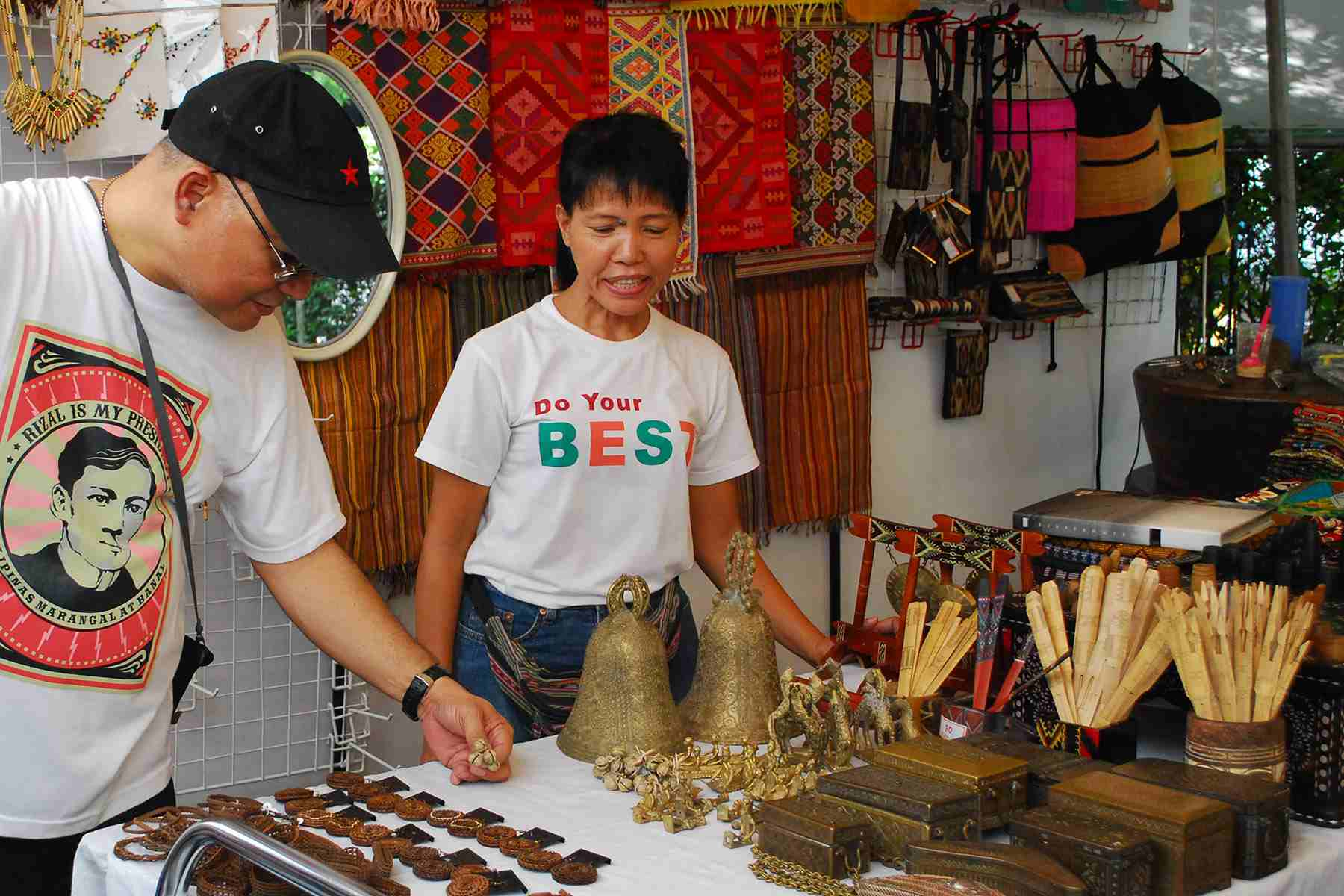 Shopping at Salcedo Weekend Market, Philippines
